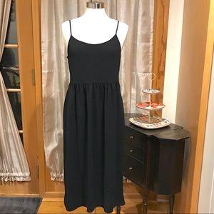 Zara Woman Black Strappy Dress Sz M